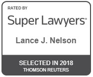 Lance Nelson Rated by Super Lawyers 2018