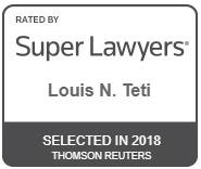Louis N. Teti Super Lawyers 2018