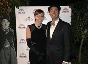 Attorney Brian Nagle and his lovely wife Jessie attend Uptown! Entertainment Alliance's 3rd Annual Red Carpet Gala, held at Winterthur Museum, Garden & Library.