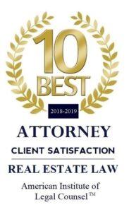 2018-2019 10 BEST Real Estate Law