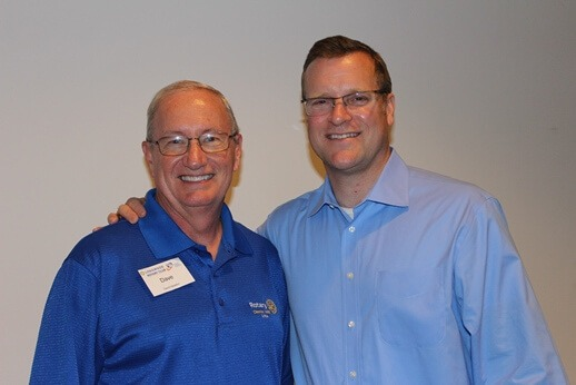Photo (L to R): District Governor Dave Haradon and Tim Rayne