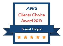 Brian J. Forgue, Avvo Clients Choice Award 2019