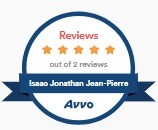 Isaac Jean-Pierre 5 star Avvo rating