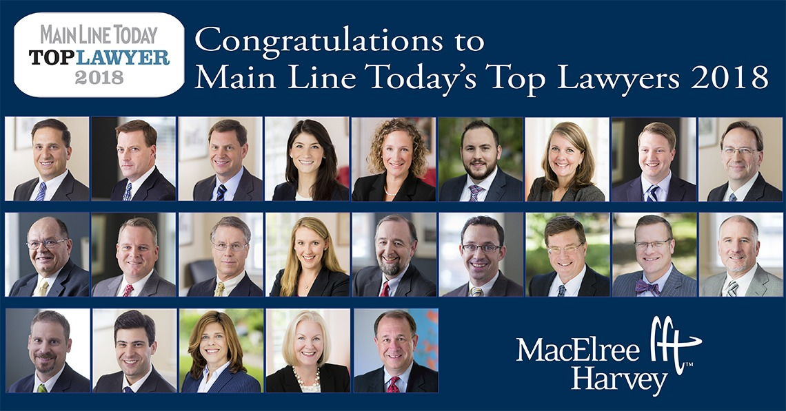 2018 Top Lawyers, Main Line Today