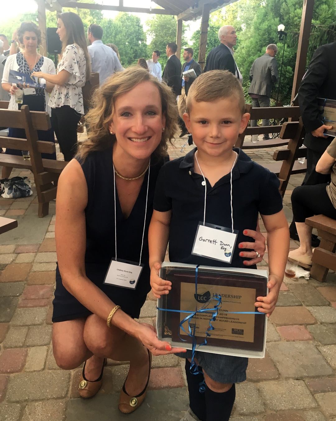 Lindsay Dunn and her son at the 2019 Leadership Chester County Graduation on June 6.